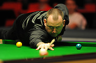 Mark Williams of Wales during his match v Neil Robertson of Australia. Bet Victor Welsh open snooker at the Newport centre in Newport, South Wales on Wed 26th Feb 2014.<br /> pic by Andrew Orchard, Andrew Orchard sports photography.