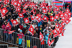 22.12.2013, Gross Titlis Schanze, Engelberg, SUI, FIS Ski Jumping, Engelberg, Herren, im Bild Fanfeature Schweiz // during mens FIS Ski Jumping world cup at the Gross Titlis Schanze in Engelberg, Switzerland on 2013/12/22. EXPA Pictures © 2013, PhotoCredit: EXPA/ Eibner-Pressefoto/ Socher<br /> <br /> *****ATTENTION - OUT of GER*****