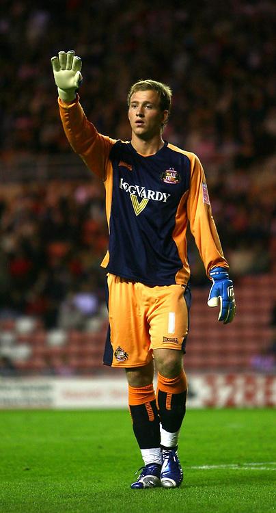 Photo: Andrew Unwin.<br /> Sunderland v Birmingham City. Coca Cola Championship. 09/08/2006.<br /> Sunderland goalkeeper Ben Alnwick earns a call up to the England U21 squad.