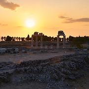 Ruins of Hierapolis Roman city near Pamukkale, Turkey