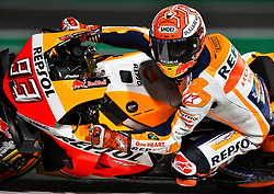 Spanish MotoGP rider Marc Marquez of Repsol Honda Team competes in the free-practice 2 during the 2019 MotoGP Grand Prix of Qatar in Losail Circuit of D?oha, capital of Qatar, on March 08, 2019. Marc Marquez took the first place with 1 minute 53.380 seconds. (Credit Image: © Yangyuanyong/Xinhua via ZUMA Wire)