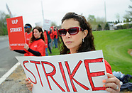 Independent Laboratory Employees Union members strike on May 2, 2019
