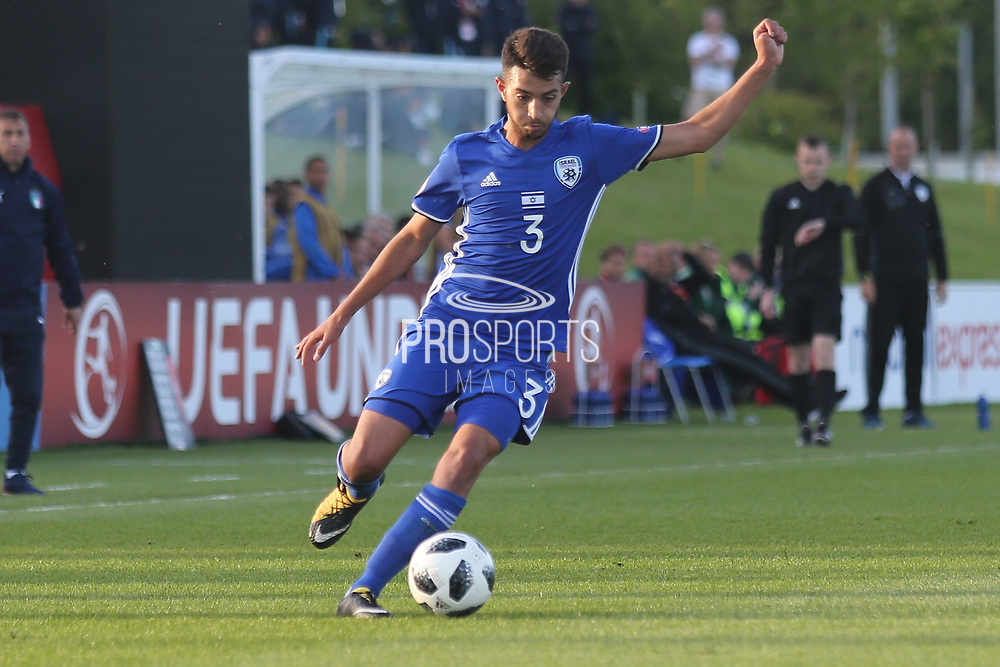 Hanan Hen Biton of Israel (3) crosses the ball during the UEFA European Under 17 Championship 2018 match between Israel and Italy at St George's Park National Football Centre, Burton-Upon-Trent, United Kingdom on 10 May 2018. Picture by Mick Haynes.