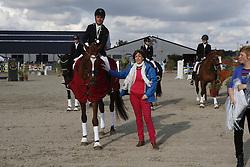 Michiels Jan (BEL) - Prinzipal II<br /> SBB Competitie Jonge Paarden - Nationaal Kampioenschap - Kieldrecht 2014<br /> © Dirk Caremans