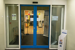 ©Licensed to London News Pictures 29/02/2020<br /> Sevenoaks, UK. An empty main entrance area. Sevenoaks Minor injuries unit at Sevenoaks Hospital in Sevenoaks, Kent is closed and on lockdown tonight due to two suspected cases of Coronavirus. Photo credit: Grant Falvey/LNP