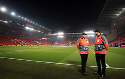 General view of the ground stewards before the UEFA Champions League match at Anfield, Liverpool.