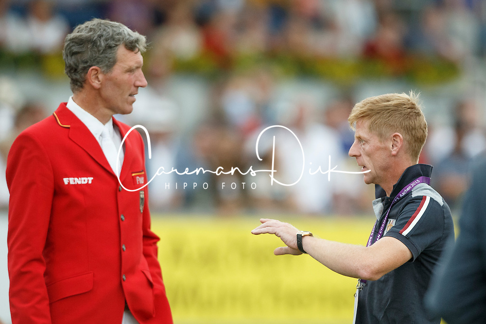 Beerbaum Ludger, (GER), Ehning Marcus, (GER)<br /> Individual Final Competition<br /> FEI European Championships - Aachen 2015<br /> © Hippo Foto - Dirk Caremans<br /> 23/08/15