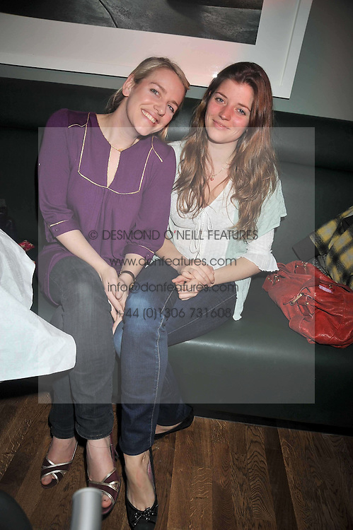 Left to right, LAURA PARKER-BOWLES and JOANNA WOOD at the opening of the Brompton Bar & Grill, 243 Brompton Road, London SW3 on 11th March 2009.