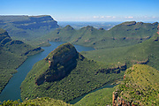 The Blyde River Canyon, officially the Motlatse Canyon is a significant natural feature of South Africa, located in Mpumalanga, and forming the northern part of the Drakensberg escarpment. Located in the Blyde River Canyon Nature Reserve, it is 25 kilometres in length