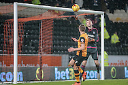David Marshall (c) (Cardiff City) makes a save during the Sky Bet Championship match between Hull City and Cardiff City at the KC Stadium, Kingston upon Hull, England on 13 January 2016. Photo by Mark P Doherty.