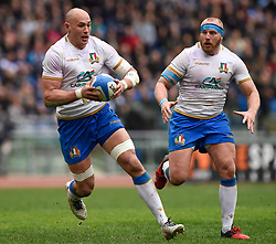March 17, 2018 - Rome, Italy - Sergio Parisse captain of Italy during the NatWest 6 Nations Championship match between Italy and Scotland at Stadio Olimpico, Rome, Italy on 17 March 2018. (Credit Image: © Giuseppe Maffia/NurPhoto via ZUMA Press)