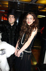 Left to right, ELIZABETH JAGGER and SEAN LENNON at Andy & Patti Wong's Chinese New Year party to celebrate the year of the Rooster held at the Great Eastern Hotel, Liverpool Street, London on 29th January 2005.  Guests were invited to dress in 1920's Shanghai fashion.<br /><br />NON EXCLUSIVE - WORLD RIGHTS