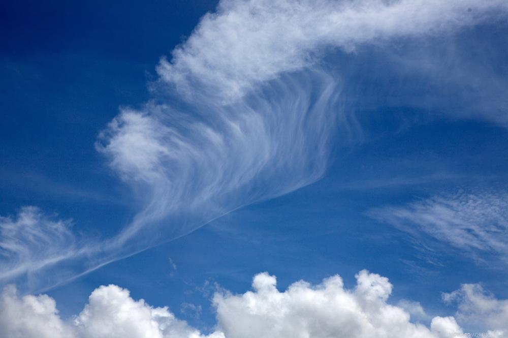 Clouds transform over the Darien Province, Panama.