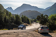 "In our trusty rental VW Suran (Highline), we drive east towards Argentina on dusty Ruta 231 near Futaleufu, in Palena Province, Chile, Andes mountains, Patagonia, South America. The frontier town Futaleufu hosts forestry, cattle farming, and adventure tourism including whitewater rafting, fishing, mountain biking, trekking, and canyoneering. Located 7 miles from the Argentinian border, Futaleufu (population 2,000) is most easily accessed from airports in Esquel and Bariloche, Argentina. The town is named after the crystal blue Futaleufú River, considered one of the best whitewater rafting rivers in the world. The name Futaleufu derives from a Mapudungun word meaning ""Big River"". A gravel road links the town to Trevelin in Argentina and to the Carretera Austral. Following the eruption of Chaitén Volcano and the subsequent destruction of Chaitén, Futaleufú has been the administrative capital of Palena Province since March 2009."