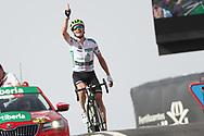 Arrival, Benjamin King (USA - Dimension Data) winner, during the UCI World Tour, Tour of Spain (Vuelta) 2018, Stage 9, Talavera de la Reina - La Covatilla 200,8 km in Spain, on September 3rd, 2018 - Photo Luis Angel Gomez / BettiniPhoto / ProSportsImages / DPPI