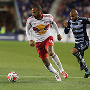 Thierry Henry, New York Red Bulls, in action during the New York Red Bulls V Sporting Kansas City, Major League Soccer Play Off Match at Red Bull Arena, Harrison, New Jersey. USA. 30th October 2014. Photo Tim Clayton
