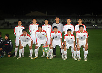 La Roche sur Yon FC Nantes v Korea  DPR (0-0) 09/10/2009<br /> DPR Korea Team <br /> North Korea make a rare appearance in the West having already qualified for World Cup 2010. Their last appearance in a major competiition was World Cup 1966 when they famously knocked Italy out of the tournament.<br /> Photo Roger Parker Fotosports International