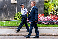 Cressida Dick,  Metropolitan Police Commissioner arrives at Downing Street.<br /> <br /> Coming after Boris Johnson announced that he is determined to tackle rising levels of knife crime by extending the police stop-and-search powers.<br /> <br /> Richard Hancox | EEm 12082019