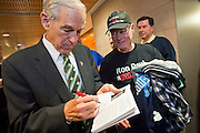 "Dec. 5, 2009 -- TEMPE, AZ: Rep. RON PAUL (R-TX) autographs his book for supporters at the Arizona Campaign for Liberty Convention in the Memorial Union building in Tempe, AZ, Saturday. Rep. Paul is in the Phoenix, AZ, area over the weekend making speeches and signing his book, ""End the Fed."" Saturday morning he spoke at the first annual ""Arizona Campaign for Liberty Convention."" Most of the attendees supported Rep. Paul during his run for the Republican nomination for US President in 2008.   Photo by Jack Kurtz"