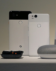 Google's new Pixel phones are unveiled Wednesday, October 4, 2017, at the SFJazz Center in San Francisco, CA, USA. Photo by Karl Mondon/Bay Area News Group/TNS/ABACAPRESS.COM