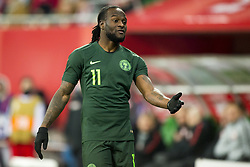 March 23, 2018 - Wroclaw, Poland - Victor Moses of Nigeria pictured during the international friendly match between Poland and Nigeria at Wroclaw Stadium in Wroclaw, Poland on March 23, 2018  (Credit Image: © Andrew Surma/NurPhoto via ZUMA Press)