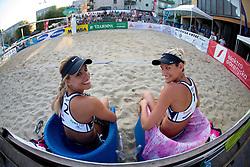 Simona Fabjan and Andreja Vodeb at tournament for Slovenian national championship - Drzavno prvenstvo Kranj 2013 on July 26, 2013, in Kranj, Slovenia. (Photo by Matic Klansek Velej / Sportida)