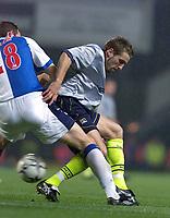 Fotball, Blackburn Keith Gillespie and Manchester City Darren Huckerby.