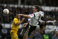 Photo: Pete Lorence.<br />Derby County v Bristol Rovers. The FA Cup. 27/01/2007.<br />Giles Barnes heads the ball towards goal.