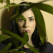 Comedian Sarah Silverman is photographed at The Regency Hotel on Park Avenue in New York City on November 7, 2005.