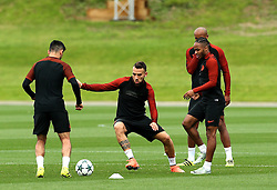 Nicolas Otamendi of Manchester City trains with Ilkay Gundogan, Raheem Sterling and Vincent Kompany - Mandatory by-line: Matt McNulty/JMP - 12/09/2016 - FOOTBALL - Manchester City - Training session ahead of Champions League Group C match against Borussia Monchengladbach