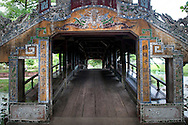 Perspective of Thanh Toan bridge in Hue, Vietnam, Southeast Asia