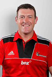 Assistant Coach Dave Hewett. Crusaders Headshots. Investec Super Rugby, Rugby Park, Christchurch. Thursday 3 Febuary 2011 . Photo: Simon Watts/photosport.co.nz