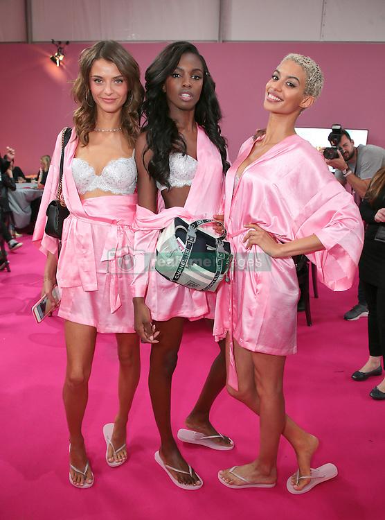 Victoria's Secret Fashion Show - Hair and Makeup, Paris, 2016, Paris, France. 30 Nov 2016 Pictured: Model, Leomie Anderson , Jourdana Phillips. Photo credit: MEGA TheMegaAgency.com +1 888 505 6342