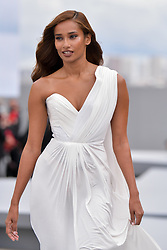 Nidhi Sunil walks the runway of L'Oréal show during the Paris Fashion Week Spring Summer on October 3, 2021 in Paris, France. Photo by Jana Call me J/ABACAPRESS.COM