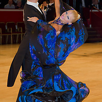 Stefano Soldati and Analisa Longo from Italy perform their dance during the Professional Ballroom competition of the International Championships held in Royal Albert Hall, London, United Kingdom. Thursday, 21. October 2010. ATTILA VOLGYI