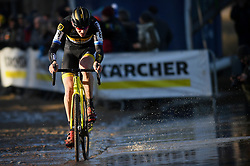 February 10, 2018 - Lille, BELGIUM - Belgian Toon Aerts pictured in action during the men's elite race of the Krawatencross cyclocross in Lille, the eighth and last stage in the DVV Verzekeringen Trofee Cyclocross competition, Saturday 10 February 2018. BELGA PHOTO DAVID STOCKMAN (Credit Image: © David Stockman/Belga via ZUMA Press)