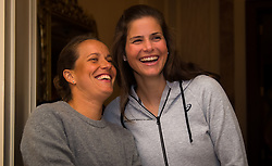 February 9, 2019 - Doha, QATAR - Barbora Strycova of the Czech Republic & Julia Goerges of Germany attend the draw ceremony of the 2019 Qatar Total Open WTA Premier tennis tournament (Credit Image: © AFP7 via ZUMA Wire)