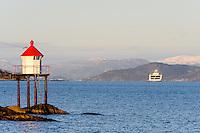 Norway, Stavanger. Small lighthouse on Storhaug.