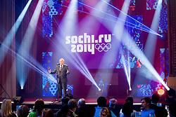 Janez Kocijancic, president of OKS speaks during presentation of Team Slovenia for Sochi 2014 Winter Olympic Games on January 22, 2014 in Grand Hotel Union, Ljubljana, Slovenia. Photo by Vid Ponikvar / Sportida