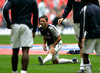 Photo: Tom Dulat.<br /> England v Estonia. UEFA European Championships Qualifying. 13/10/2007.<br /> Frank Lampard of England warms up before the game