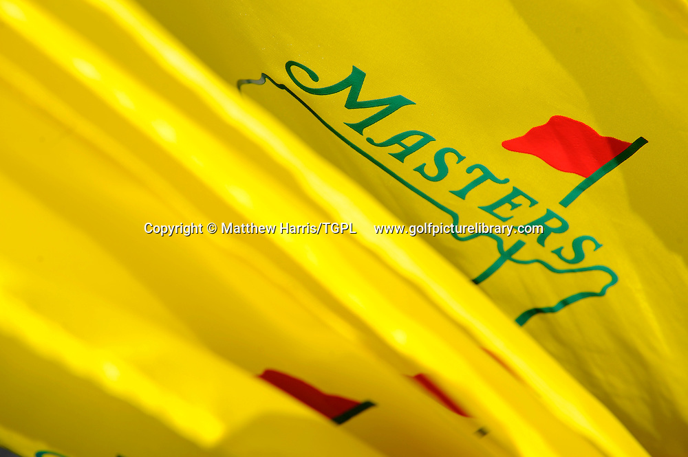 Masters flags during third round US Masters 2010, Augusta National, Augusta,Georgia,USA.