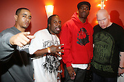 l to r: Phil the Agony(SAS), Mitchy Slick(SAS), David Banner and Krondon(SAS) at The Sony HipHop Live Tour featuring Talib Kweli and David Banner held at The Nokia Theater on October 25, 2008 in NYC