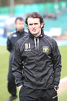Yeovil Town's Welsh footballer and assistant manager Nathan Jones <br /> Brighton and Hove Albion vs Yeovil Town at the Withdean Stadium Brighton. Coca Cola Football League One. 14/03/2009<br /> Credit Colorsport / Shaun Boggust