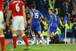 Goal, Marcos Alonso of Chelsea scores, Chelsea 2-0 Middlesbrough - Mandatory by-line: Jason Brown/JMP - 08/05/17 - FOOTBALL - Stamford Bridge - London, England - Chelsea v Middlesbrough - Premier League