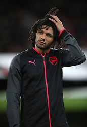 Arsenal's Mohamed Elneny during the UEFA Europa League, Group H match at the Emirates Stadium, London. PRESS ASSOCIATION Photo. Picture date: Thursday December 7, 2017. See PA story SOCCER Arsenal. Photo credit should read: Nick Potts/PA Wire