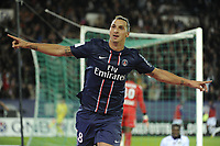 FOOTBALL - FRENCH CHAMPIONSHIP 2012/2013 - L1 - PARIS SAINT GERMAIN v TOULOUSE FC - 14/09/2012 - PHOTO ALAIN GADOFFRE / REGAMEDIA / DPPI - Joy ZLATAN IBRAHIMOVIC (PARIS SG)