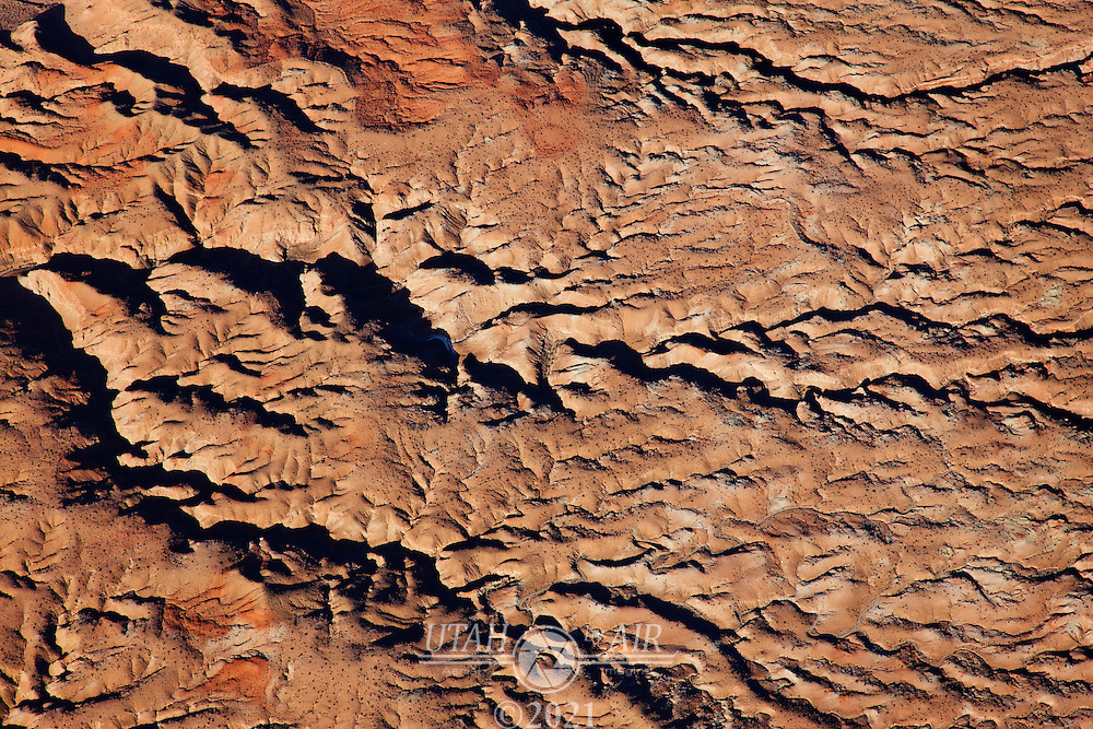 The land really shows the effects of thousands of years of erosion along the San Rafael Swell of central Eastern Utah