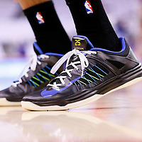 11 May 2014: Close view of Oklahoma City Thunder guard Thabo Sefolosha (25) shoes during the Los Angeles Clippers 101-99 victory over the Oklahoma City Thunder, during Game Four of the Western Conference Semifinals of the NBA Playoffs, at the Staples Center, Los Angeles, California, USA.