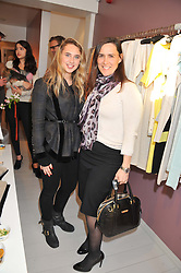 Left to right, Ophelia Thorp and her mother Antonia Manley at a party at De Roemer, 14 Porchester Place, London W2 on 1st May 2013.