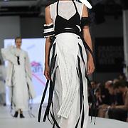Designer Sophia Parkinson at the Best of Graduate Fashion Week showcases at the Graduate Fashion Week 2018, June 6 2018 at Truman Brewery, London, UK.